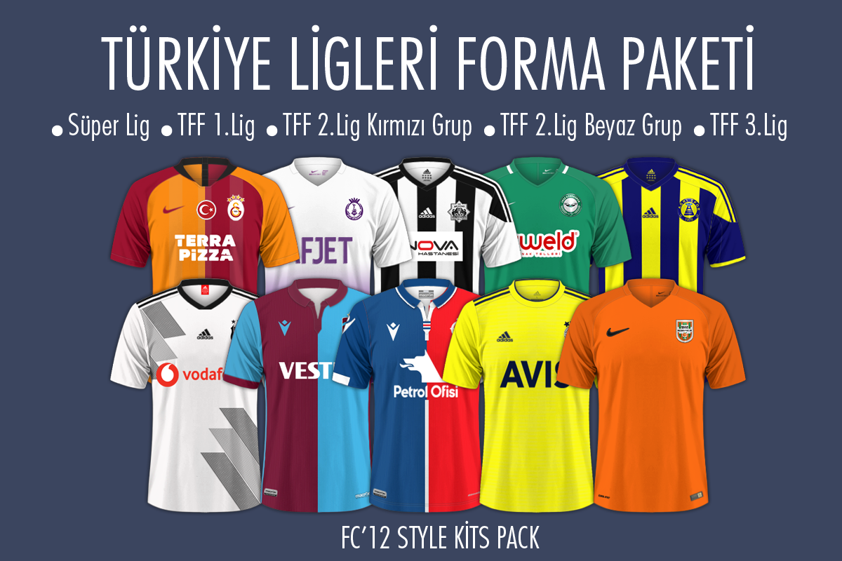 fm20 türkiye ligi forma paketi indir