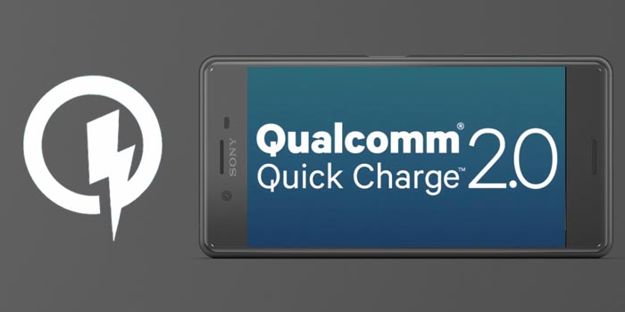 XPERIA X PerformanceはQuick Charge 2.0に対応、急速充電ができる