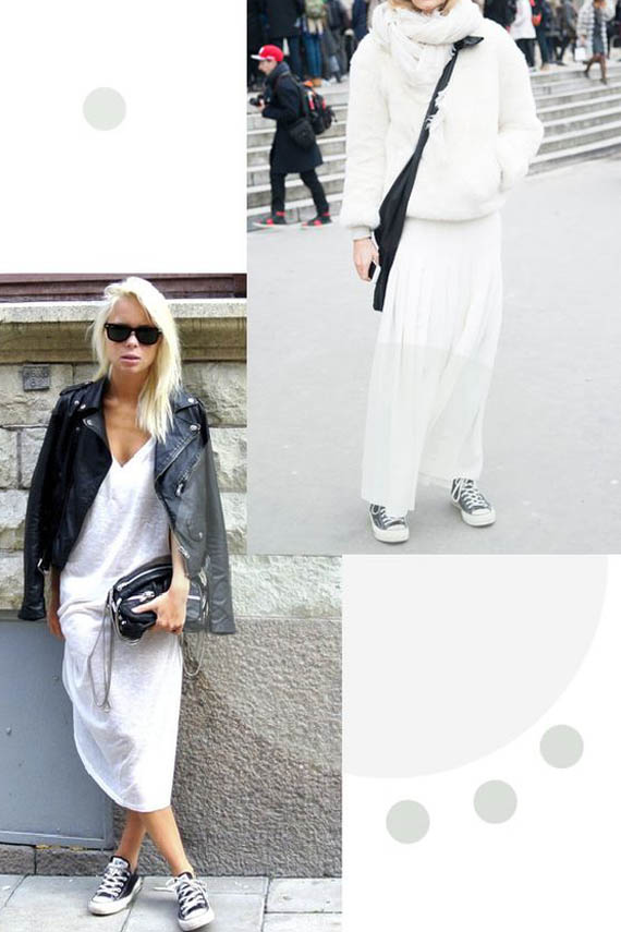 casual style, total white look and black converse