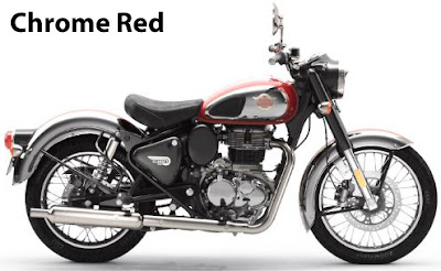 Royal Enfield Classic 350 Chrome Red.