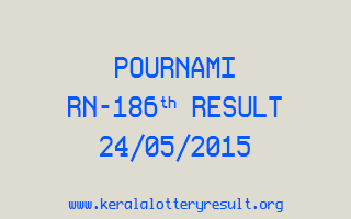 POURNAMI RN 186 Lottery Result 24-5-2015