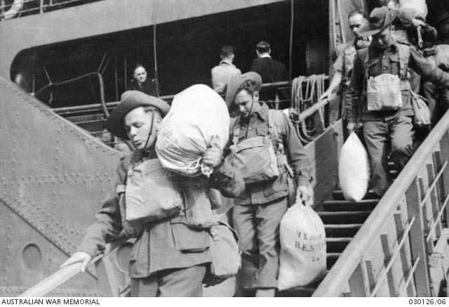 Troops disembarking in Adelaide, Australia, 14 March 1942 worldwartwo.filminspector.com