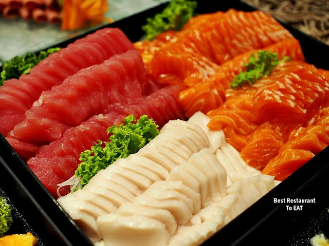 Feast Buffet Japanese Menu  - Sashimi & Sushi