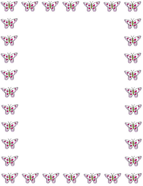 Bordes Decorativos: Bordes decorativos de mariposas para ...