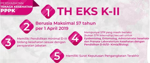 Persyaratan Pendaftaran PPPK 2019 Tenaga Kesehatan (TH Eks K-II)
