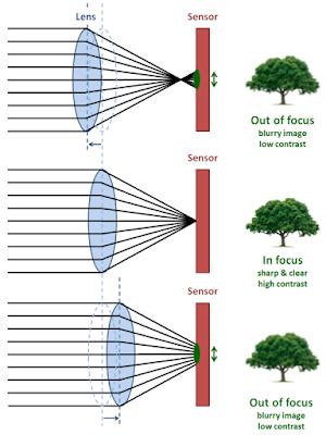 ilustrasi kerja auto focus contrast detection