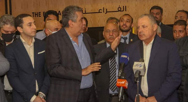 أبو ريدة يوجه رسالة شكر إلى مصر من داخل اتحاد الكرة