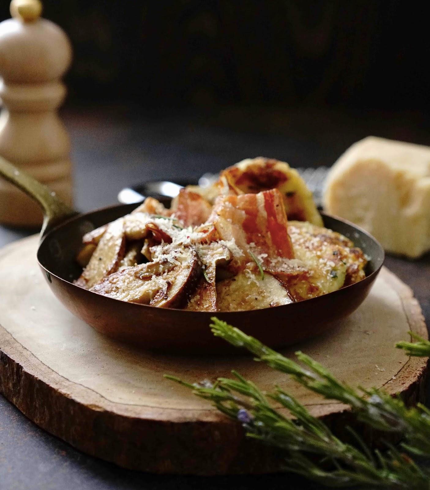 pomme de terre , galettes moelleuses , cèpes , diner facile , cuisine rapide