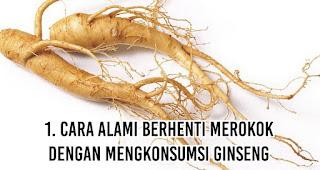 Cara Alami Berhenti Merokok dengan mengkonsumsi Ginseng