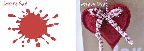 colore Aurora Red e progetto cuore di lana