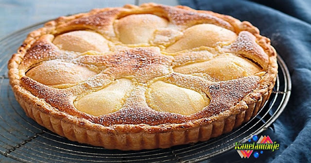 Tarta de Pera y crema de Almendra
