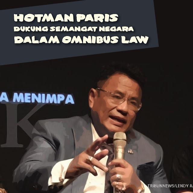 Hotman Paris Dukung Semangat Negara Dalam Omnibus Law