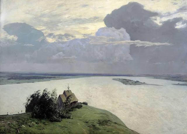 Исаак Ильич Левитан - Над вечным покоем. 1894