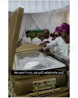 Obi Cubana's mother coffin