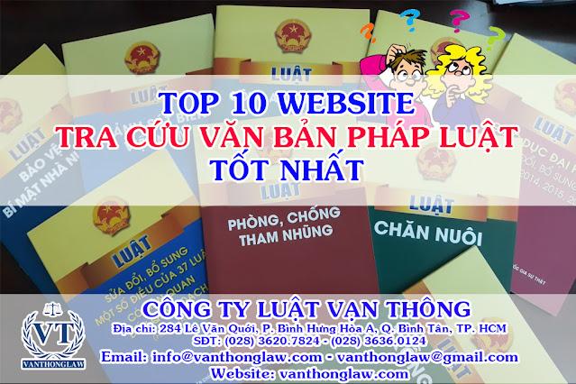 top 10 website tra cứu văn bản pháp luật tốt nhất