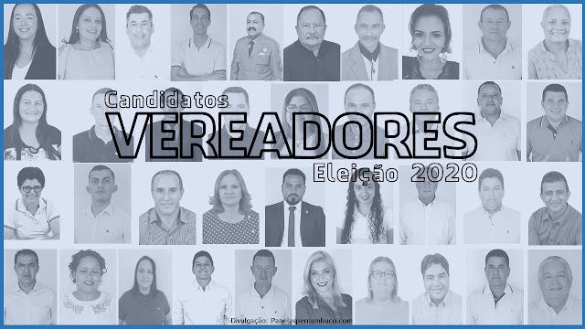 CANDIDATOS A VEREADOR DE PANELAS-PE - ELEIÇÕES 2020