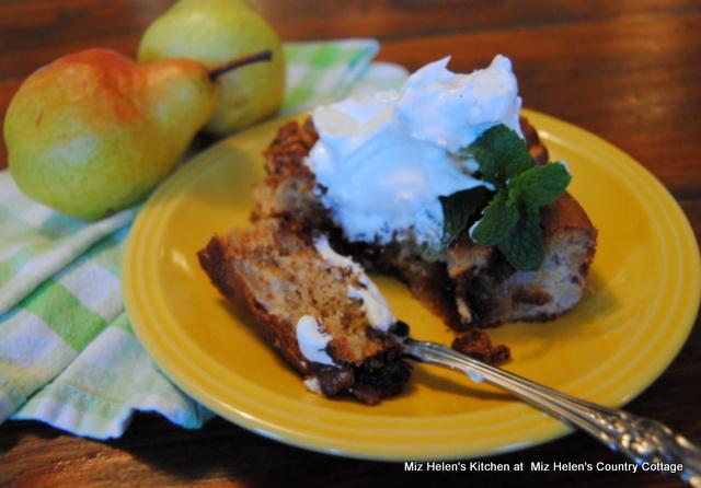 Pear & Walnut Coffee Cake at Miz Helen's Country Cottage