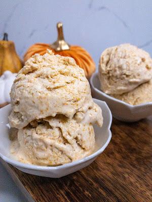 No-Churn Brandied Pumpkin Pie Ice Cream
