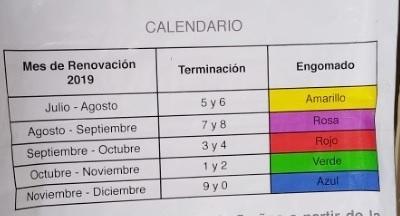 Calendario, vehículos