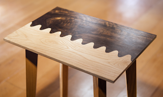 cool wavy table design carved with a cnc router