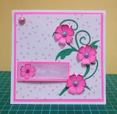 Pink Handmade Birthday Card For Girls