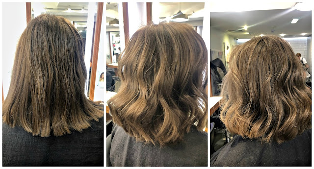 Hair before and after Headmaster Mayfair Salon