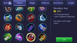 Build Item Minsitthar Mobile Legends Tersakit Dan Terkeras 2019
