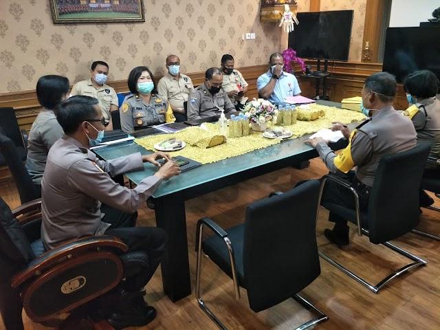 Polres Badung Sambut Tim Supervisi Polda Bali