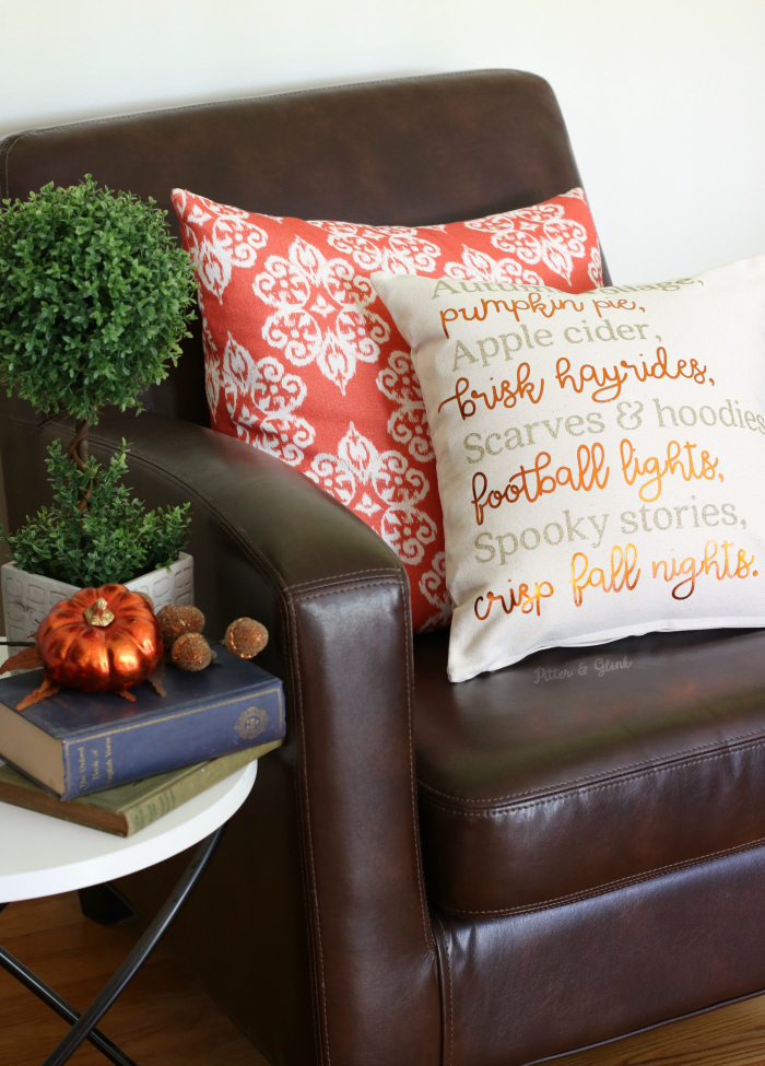 DIY Fall Poem Pillow + Free Cut File