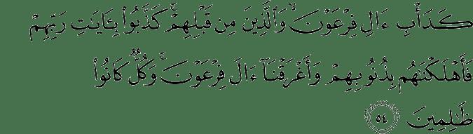 Surat Al Anfal Ayat 54