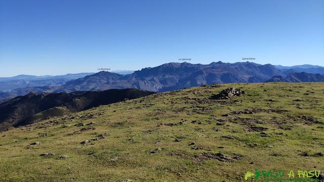 Vista desde la Loral hacia el Aramo