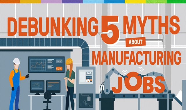 5 Myths of debunking production employment #infographic