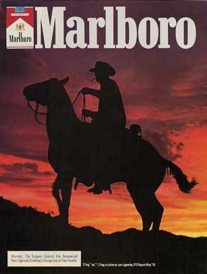 Marlboro poster with cowboy