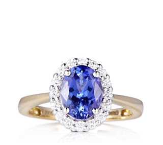 Image showing a tanzanite and diamond ring from QVC.