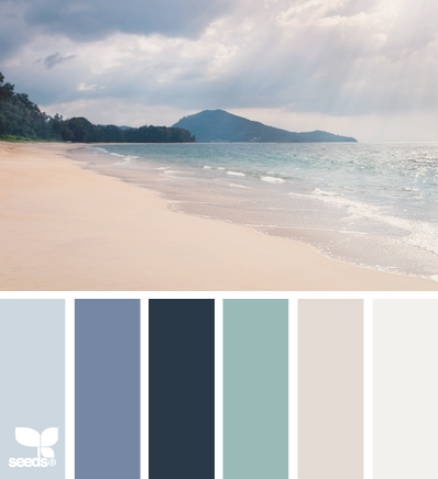 Coastal paint colors land and sand - Is blue a calming color ...