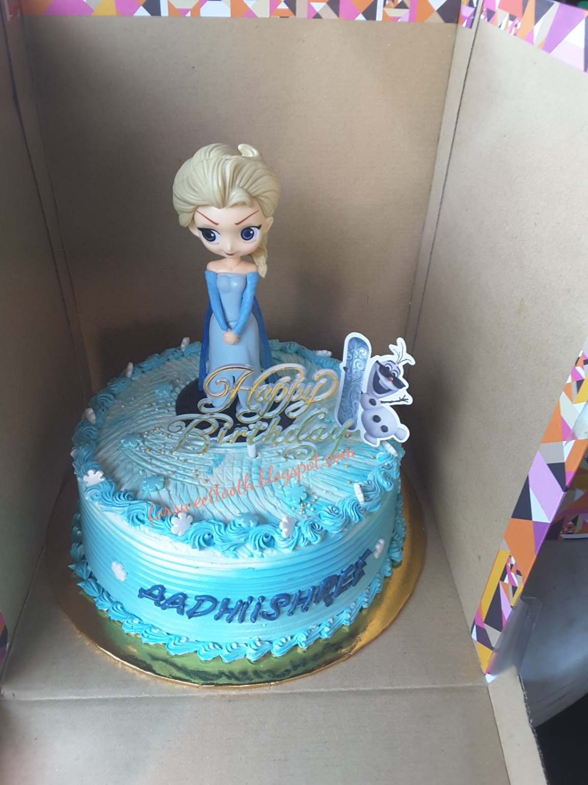 Remarkable Sweet Frozen Elsa Birthday Cake Funny Birthday Cards Online Unhofree Goldxyz