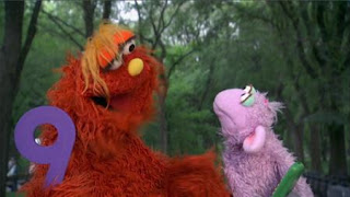 Murray and Ovejita present the number of day number 9. Sesame Street Episode 4320 Fairy Tale Science Fair season 43