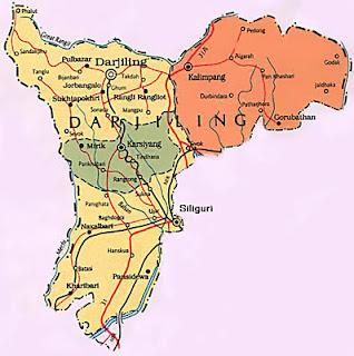 Map of Darjeeling Administration
