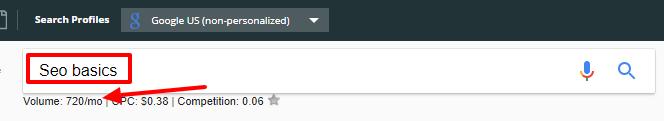 Seo Basics- Head Keywords - Search results