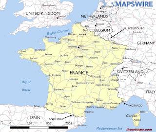फ्रांस देश के बारे में रोचक तथ्य - Interesting facts about France