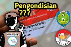 Indikasi Bagi Hasil Fee Keuntungan Sembako : Pendamping PKH Desa Sumbon Indramayu Lakukan pengondisian Kartu KKS.
