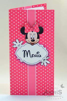 Meniu botez tematic - Minnie Mouse fata