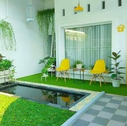 taman rumah minimalis type 30 desain unik dan menarik