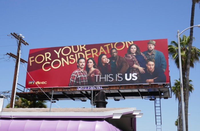 This Is Us Emmy season 3 consideration billboard