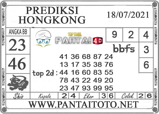 PREDIKSI TOGEL HONGKONG PANTAI4D 18 JULI 2021