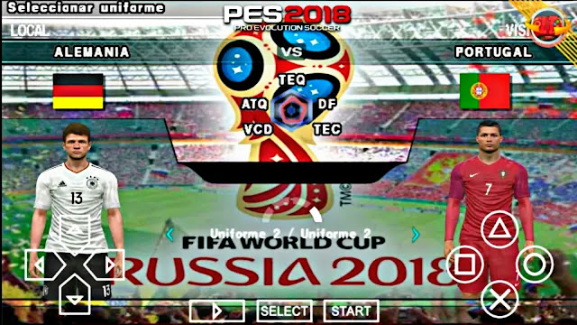 Download PES 2018 World Cup Russia 18 Edition Android Offline 400 MB Best Graphics
