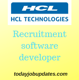 HCL Recruitment Software Developer for B.TECH July-2019