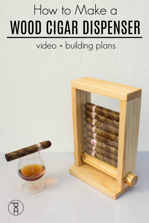 how to make video tutorial wood cigar dispenser fathers day gift idea