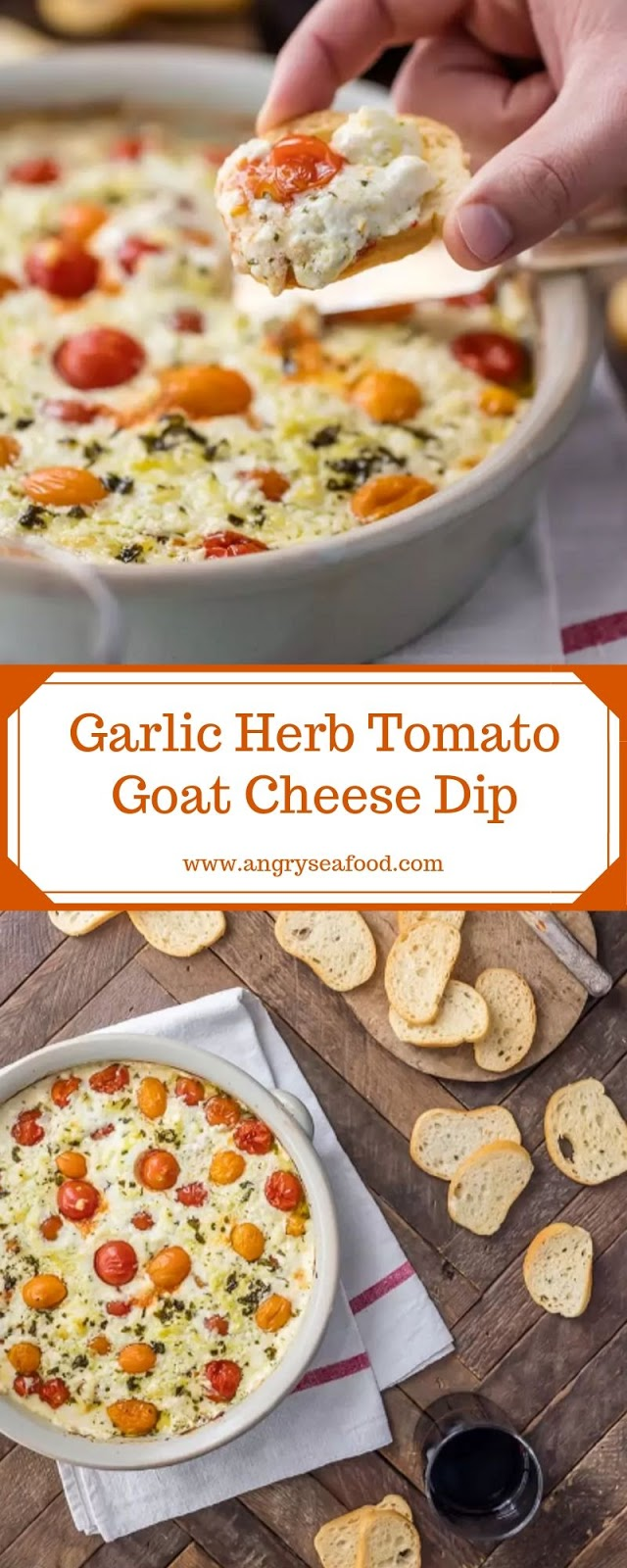 Garlic Herb Tomato Goat Cheese Dip