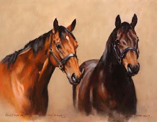 animales-domesticos-pinturas-de-corceles dibujos-oleo-caballos